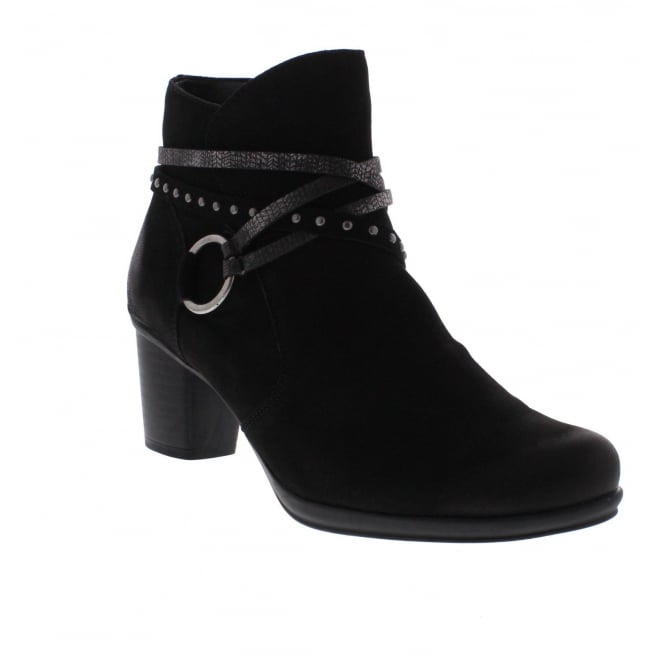 Remonte R1580-02 Womens Black Combination Ankle Boot