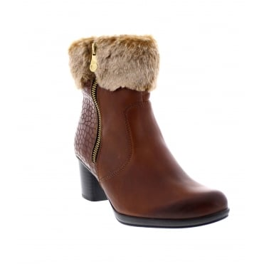 Remonte R1585-24 Womens brown combination ankle boot