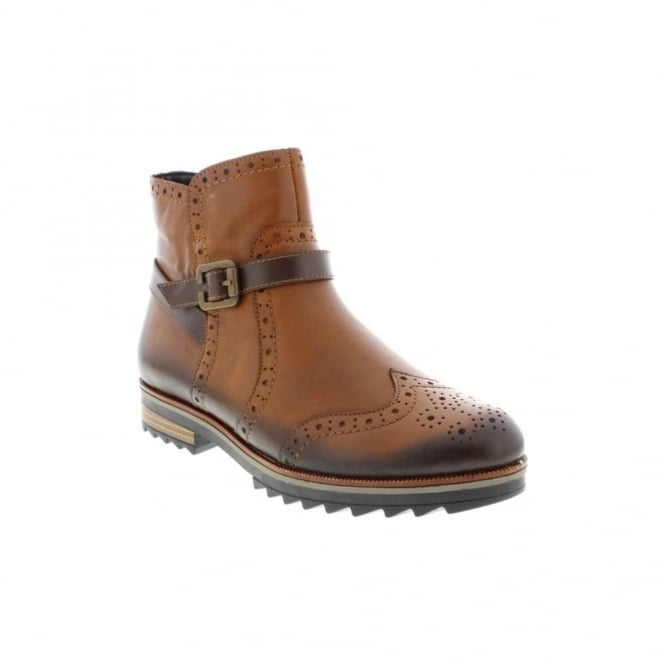 Remonte R2278-24 Ladies Brown Zipper ankleboots