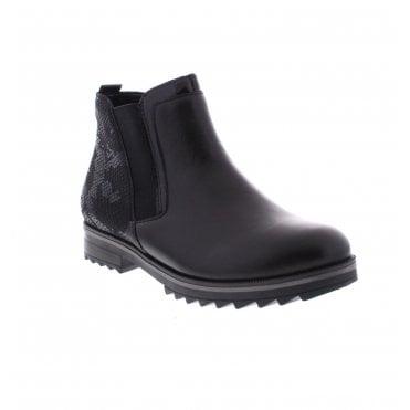 ddbf6b5c46eebd Remonte R2280-01 Ladies Black Ankle Boots