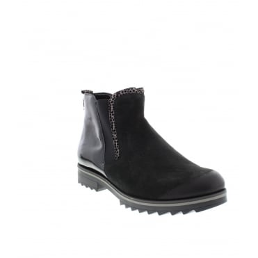 Remonte R2280-02 Ladies Black Combination Zipper ankleboots
