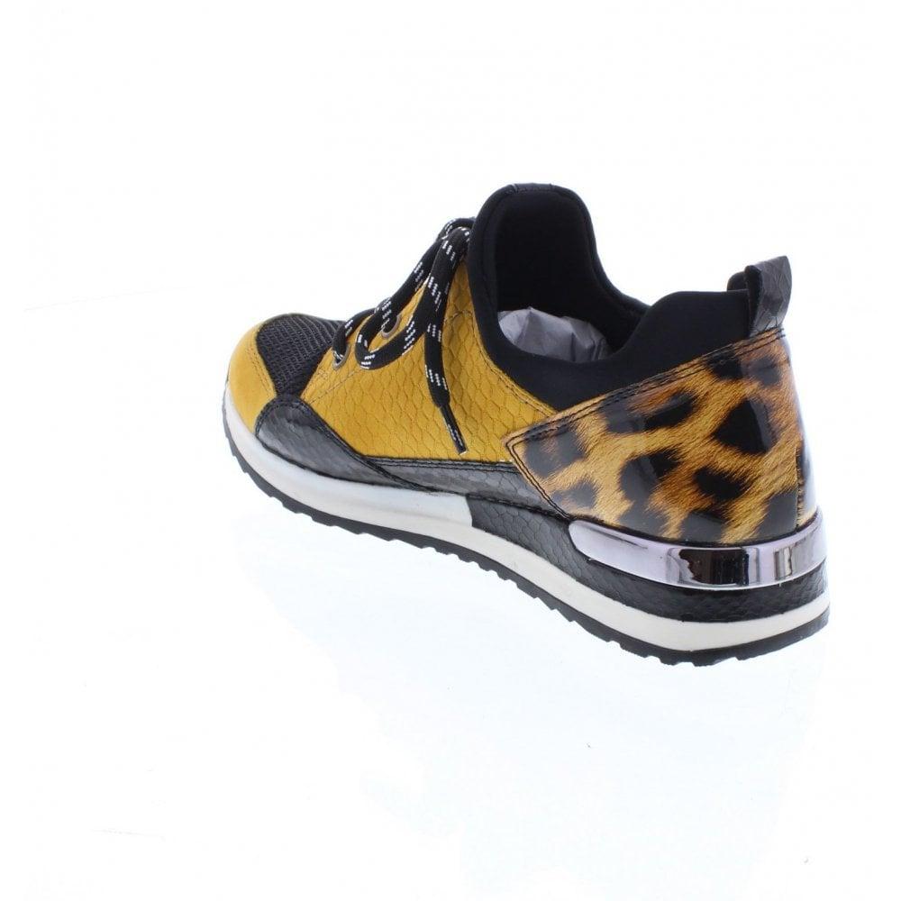 Remonte by Rieker Sneaker schwarz-gelb-leo R2503-68