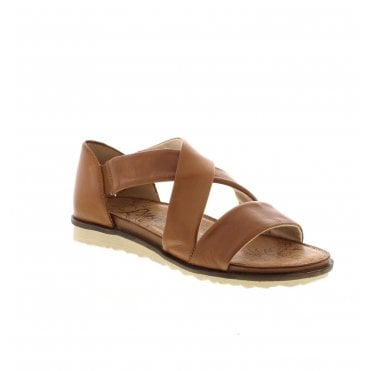 8b34cf9f8f5 R2755-22 Ladies Brown Slip On Sandals