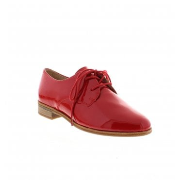 aa78459ec R2801-33 Ladies Red Patent Lace Up Shoes