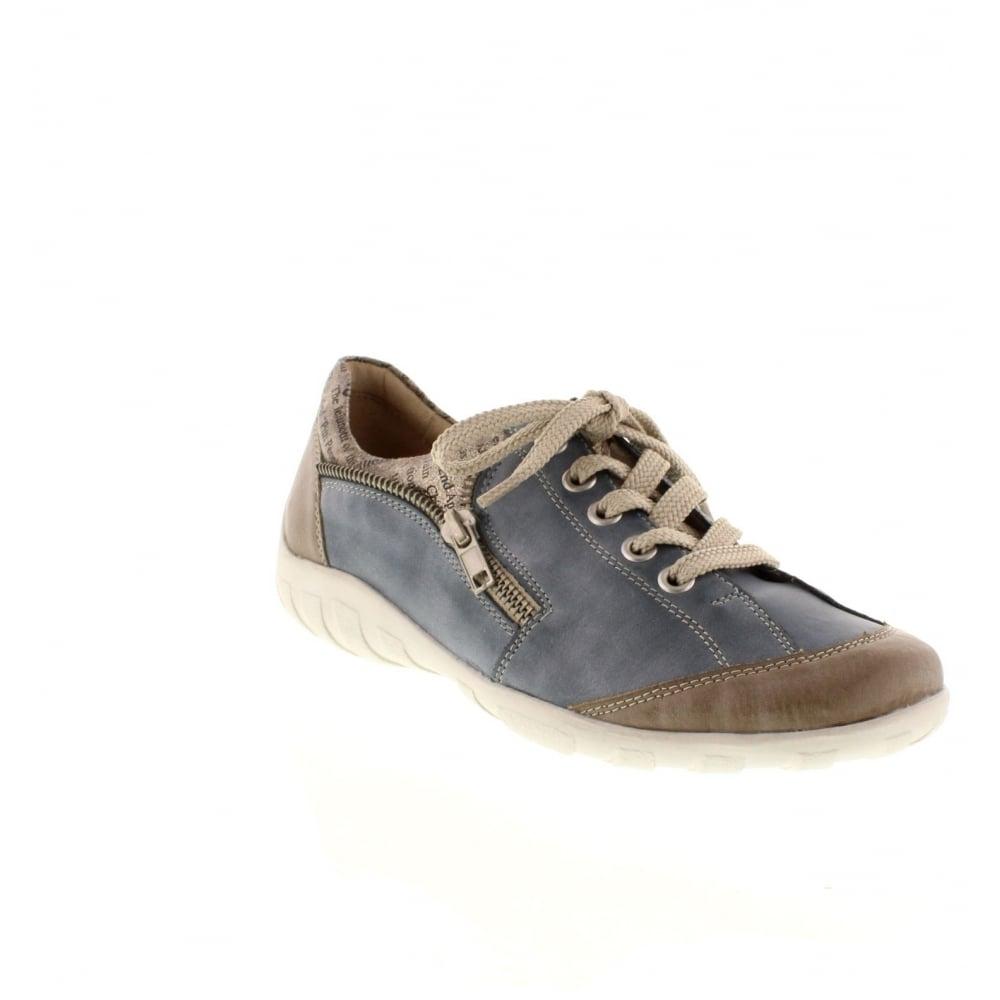remonte r3403 14 ladies blue lace shoes remonte ladies from rieker uk. Black Bedroom Furniture Sets. Home Design Ideas
