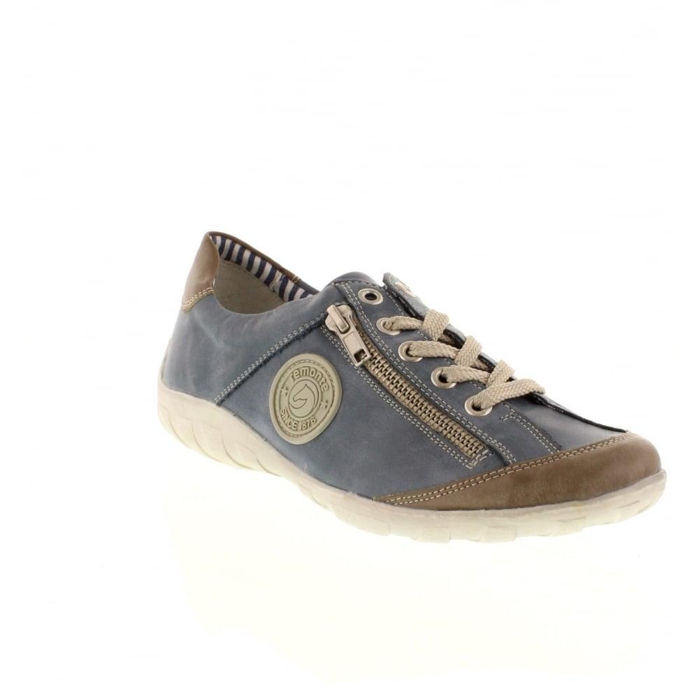 remonte r340815 ladies blue lace shoes remonte ladies