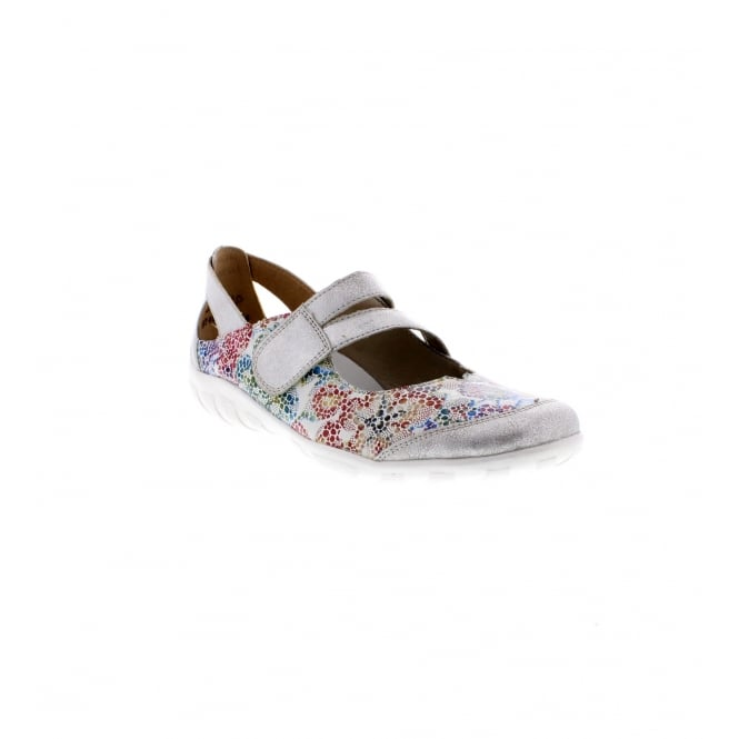 Remonte R3427-92 Ladies silver and multi coloured shoe