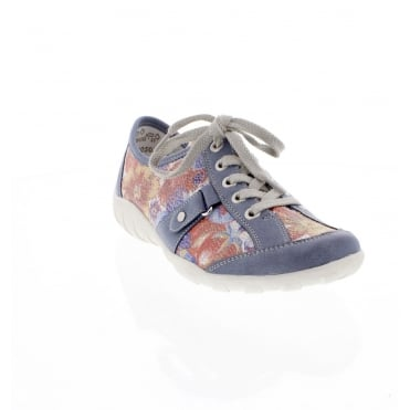 R3431-12 Ladies blue combination shoe