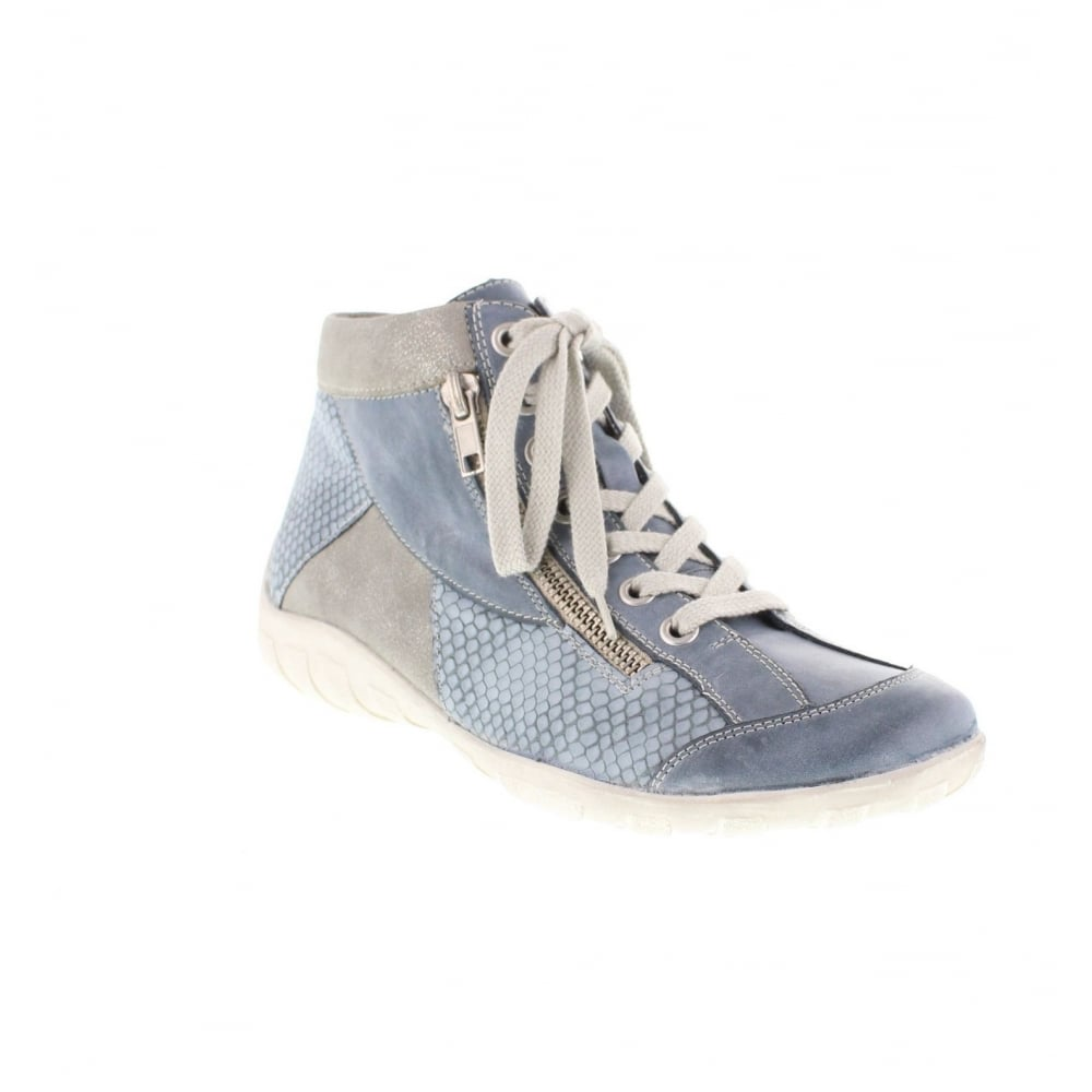 remonte r3462 14 ladies blue lace ankleboots remonte ladies from rieker uk. Black Bedroom Furniture Sets. Home Design Ideas