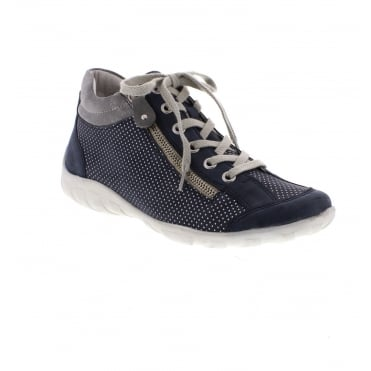 R3487-14 Ladies' Blue combination ankle boots
