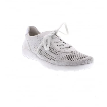UK Shoes Store Lilulei Womens Sports Glitter Running Fashion Trainer Shoes 4/37 NEW Box Silver Si