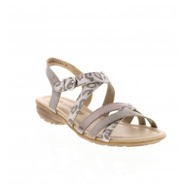 R3631-91 Ladies Silver Combination Sandals 0a5af466fa