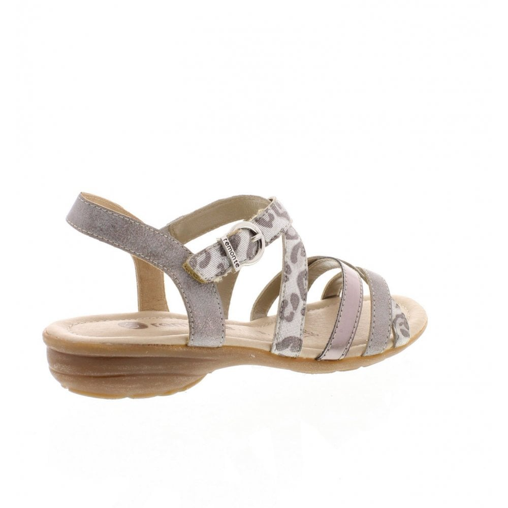 e13671f4e976 Remonte R3631-91 Ladies Silver Combination Sandals - Remonte Ladies ...