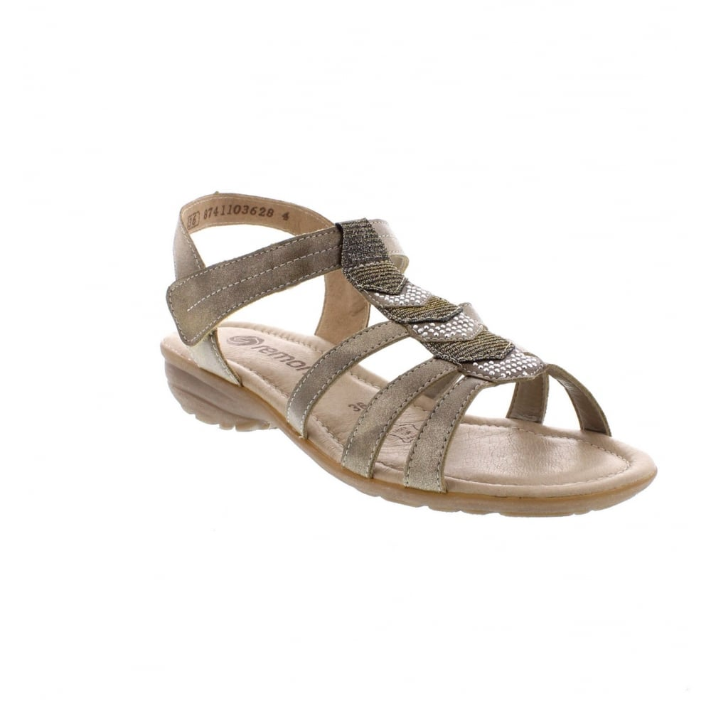 514709cd1a5e Remonte R3637-90 Sling Back Gold Ladies Sandals - Remonte Ladies from Rieker  UK