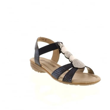 Remonte R3638-14 Ladies Blue Velcro sandals