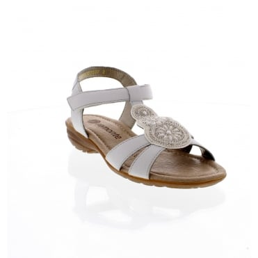 Remonte R3641-81 Ladies white sling back sandals