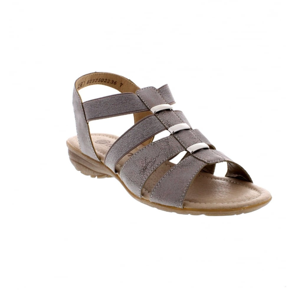 e0e868aa3191 Remonte R3644-90 Ladies metallic sandals - Remonte Ladies from Rieker UK