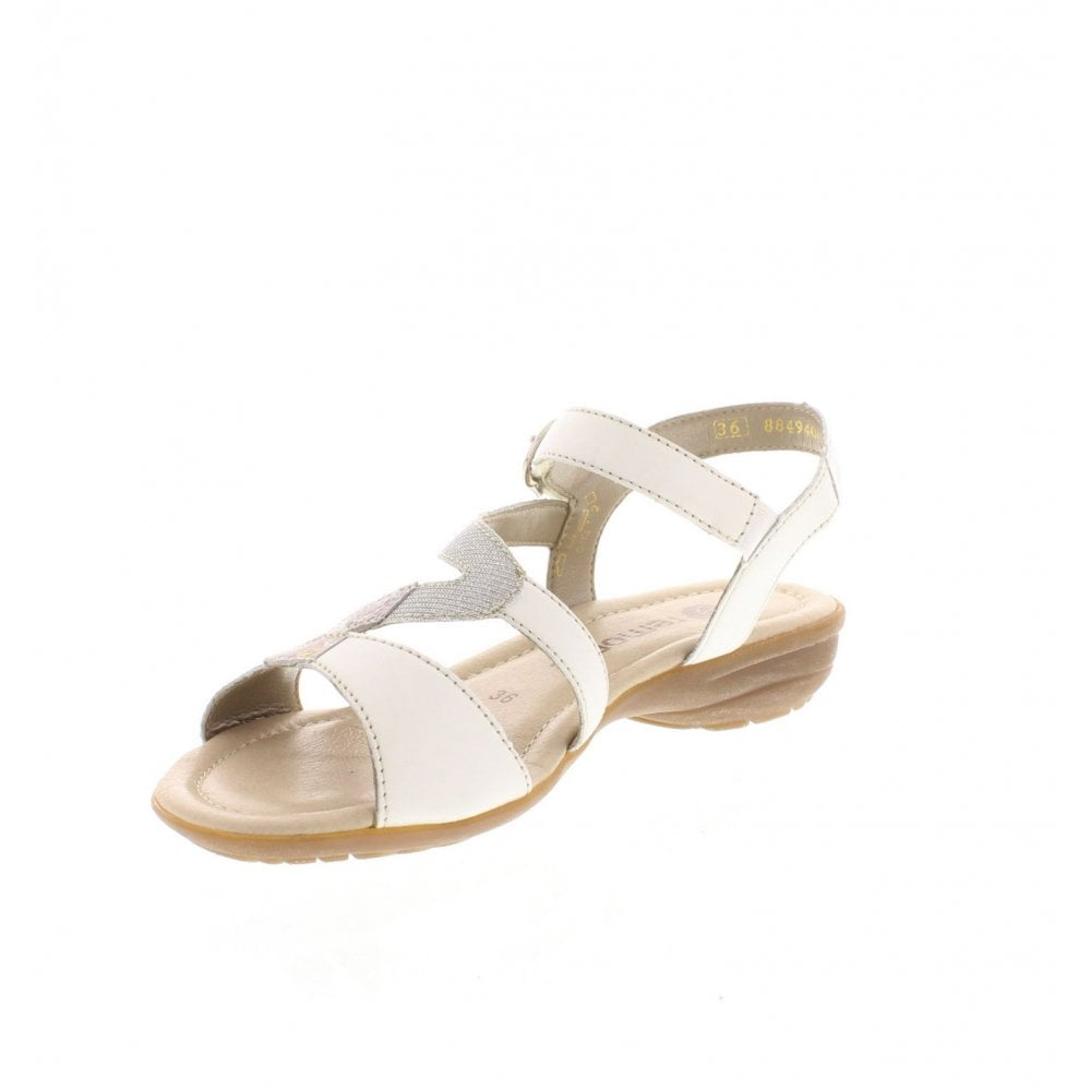 11a8ff15 Remonte R3651-80 Ladies White Combination Sandals - Remonte Ladies ...