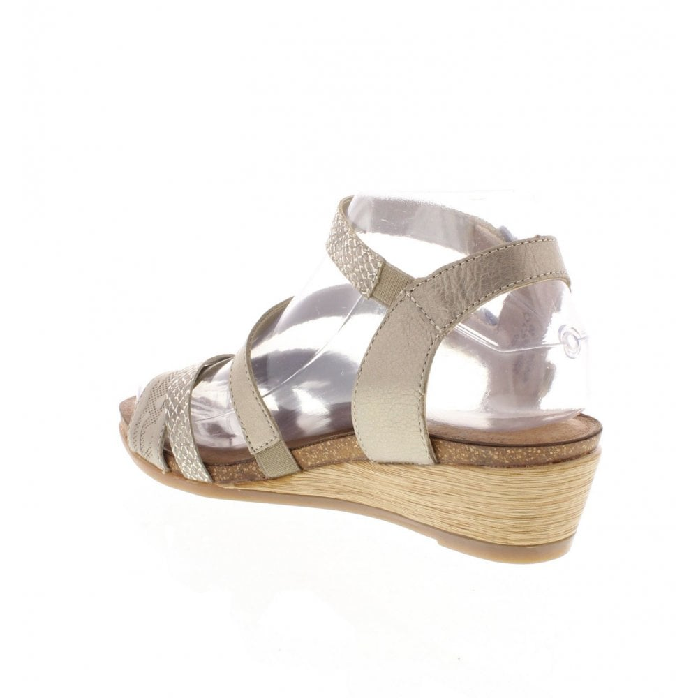 cc42015d76b8 Remonte R4453-90 Ladies Bronze Sandals - Remonte Ladies from Rieker UK