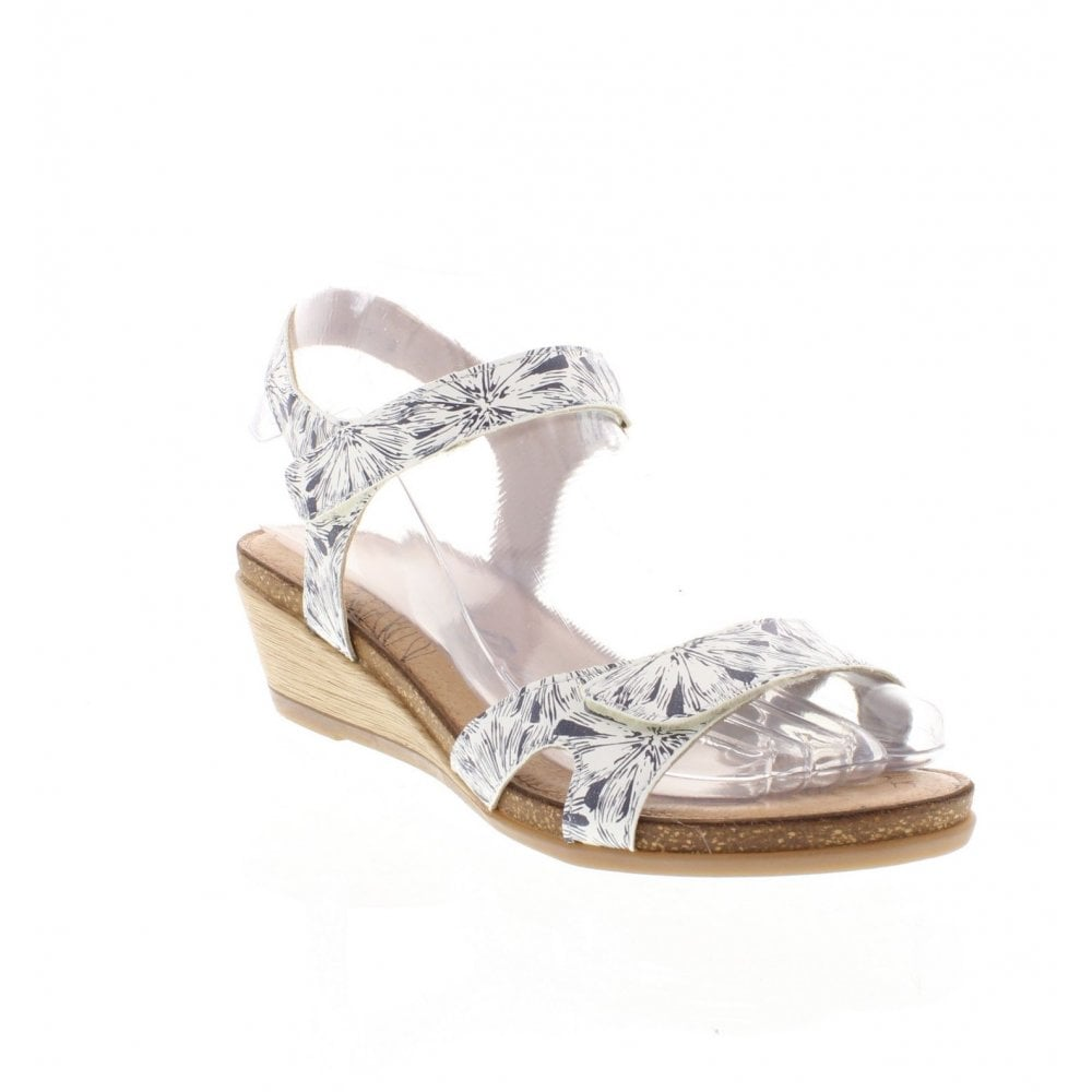 7b8f36f0a18e Remonte R4456-81 Ladies White Combination Sandals - Remonte Ladies ...