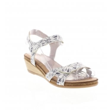 5e91aea8 R4456-81 Ladies White Combination Sandals. Remonte ...