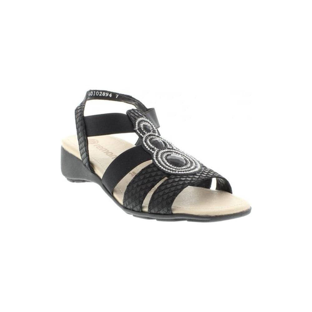 a687ec4ae81b Remonte R5248-01 Ladies Black Sling Back sandals - Remonte Ladies from Rieker  UK