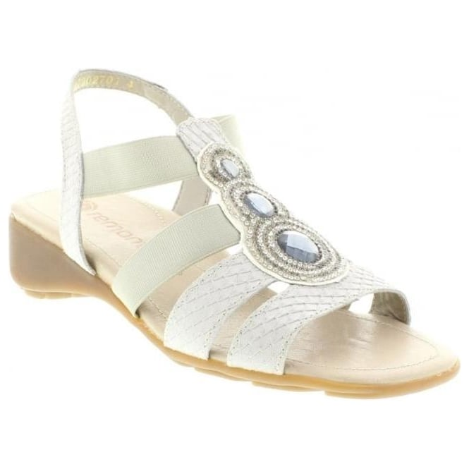 Remonte R5248-80 Ladies White Sling Back sandals