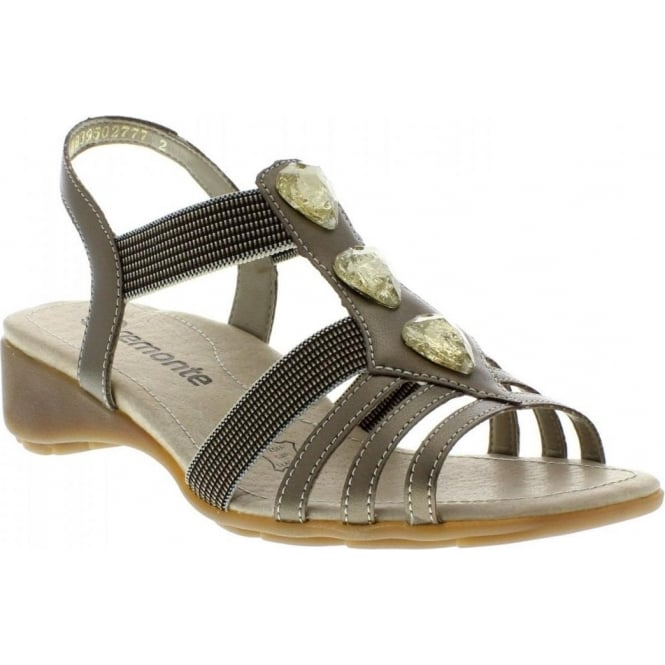 Remonte R5258-19 Ladies Gold sandals