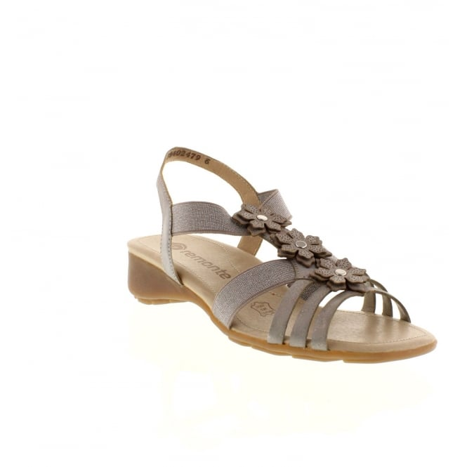 Remonte R5272-40 Ladies Grey Sling Back sandals