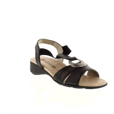 Remonte R5273-01 Ladies Black Sling Back sandals