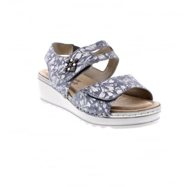 Remonte R6055-12 Ladies pale blue Remonte soft combination sandals