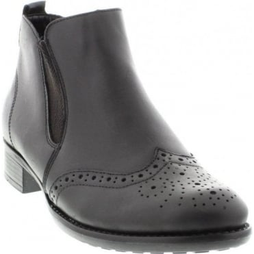 Remonte R6464-01 Ladies Black Zip ankleboots