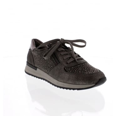 Remonte R7008-42 Womens Grey Combination Shoe
