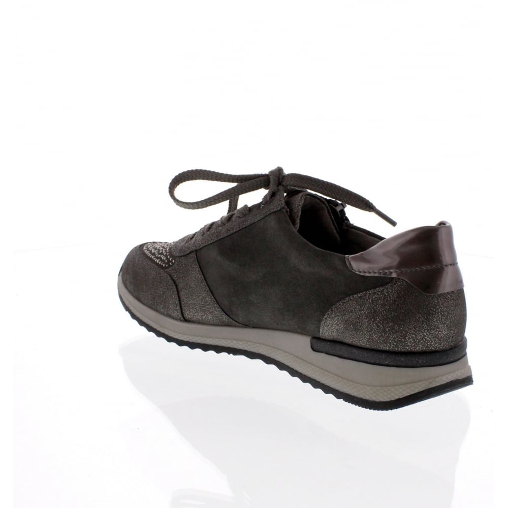 R7008 42 Womens Grey Combination Shoe