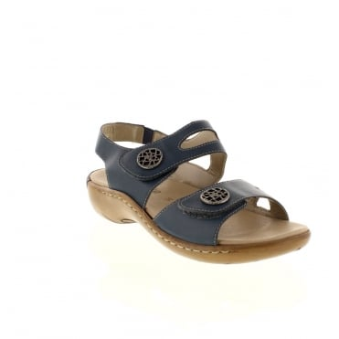Remonte R8570-14 Ladies Blue Velcro sandals