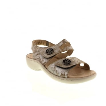 Remonte R8570-42 Ladies Grey hook and loop sandals