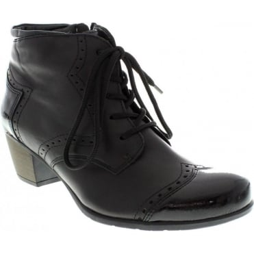 Remonte R9170-01 Ladies Black Lace Up