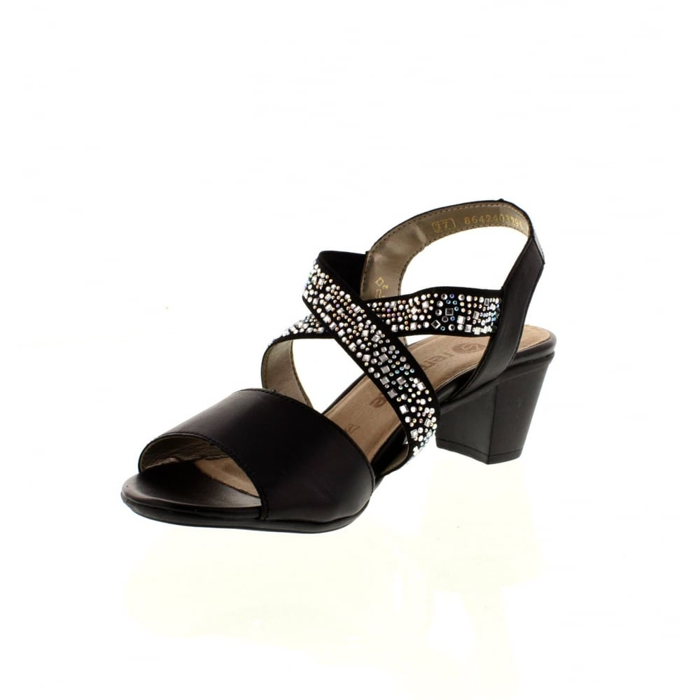 b57d0d7ec9da Remonte R9272-01 Ladies Black Sling Back sandals - Remonte Ladies ...