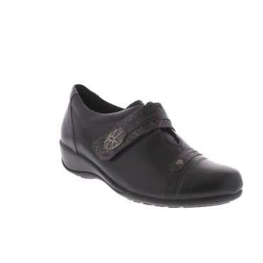 Remonte R9813-01 Ladies Black Combination Shoe