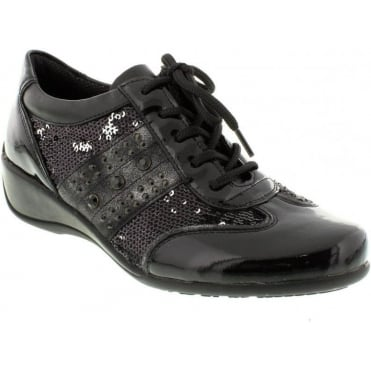 Remonte R9818-01 Ladies Black Lace Up