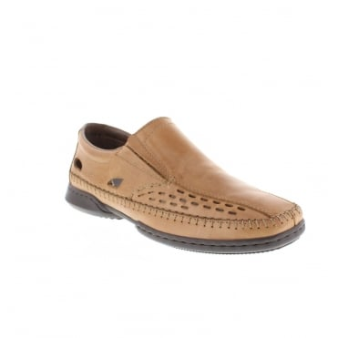 Rieker 07966-23 Mens Brown Slip on shoes