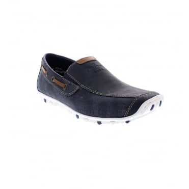 Rieker 08971-15 Mens blue casual shoes