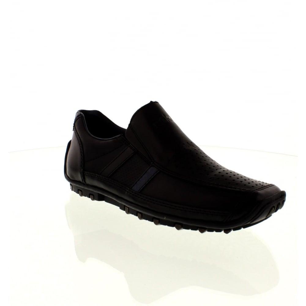 rieker 08985 00 mens black slip on shoes rieker mens