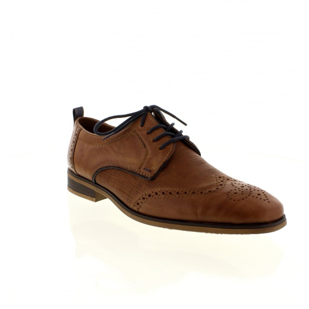 Rieker 10612 25 Mens Brown Lace Shoes From