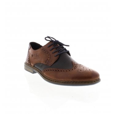 d9563aa8bab 13413-25 Men s Brown Combination Lace Up Shoes