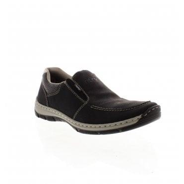 382c607172 15260-01 Men s Black Slip On Shoes