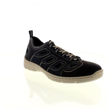 Rieker 15285-14 Mens Blue Lace shoes
