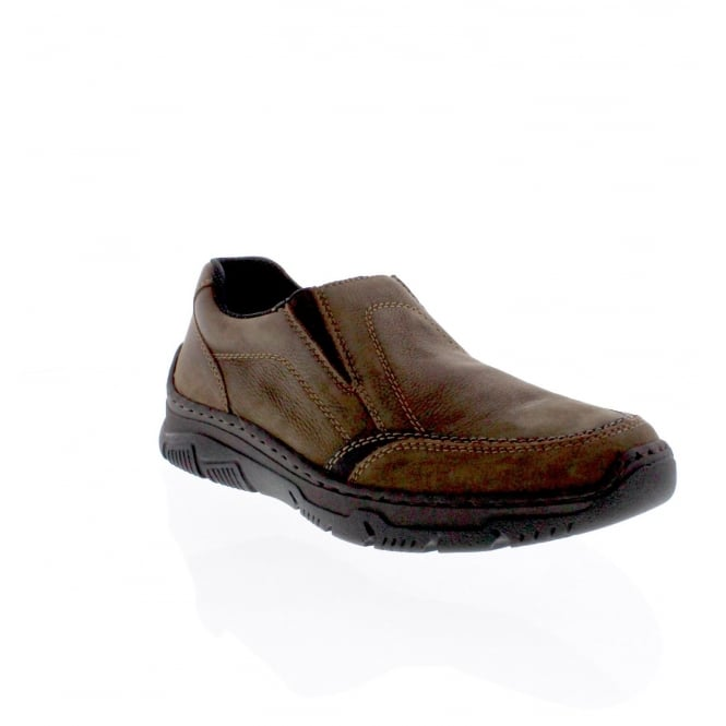 Rieker 16963-25 Mens brown slip on