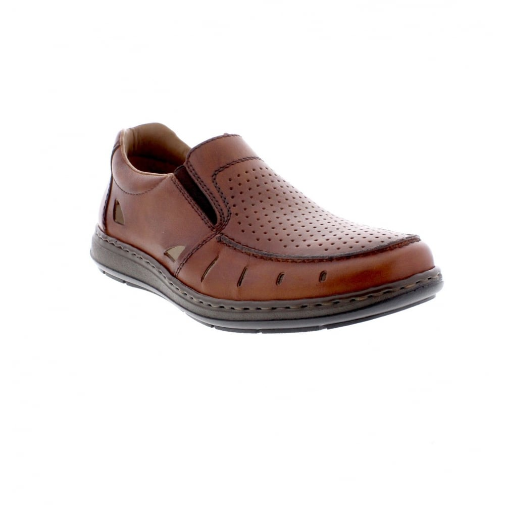 17355-24 Mens brown casual shoes