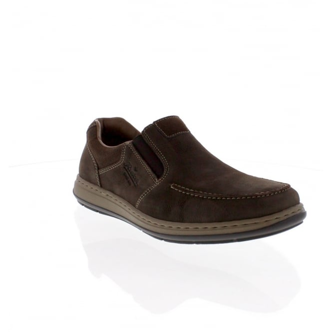 Rieker 17361-25 Mens Brown slip on shoe